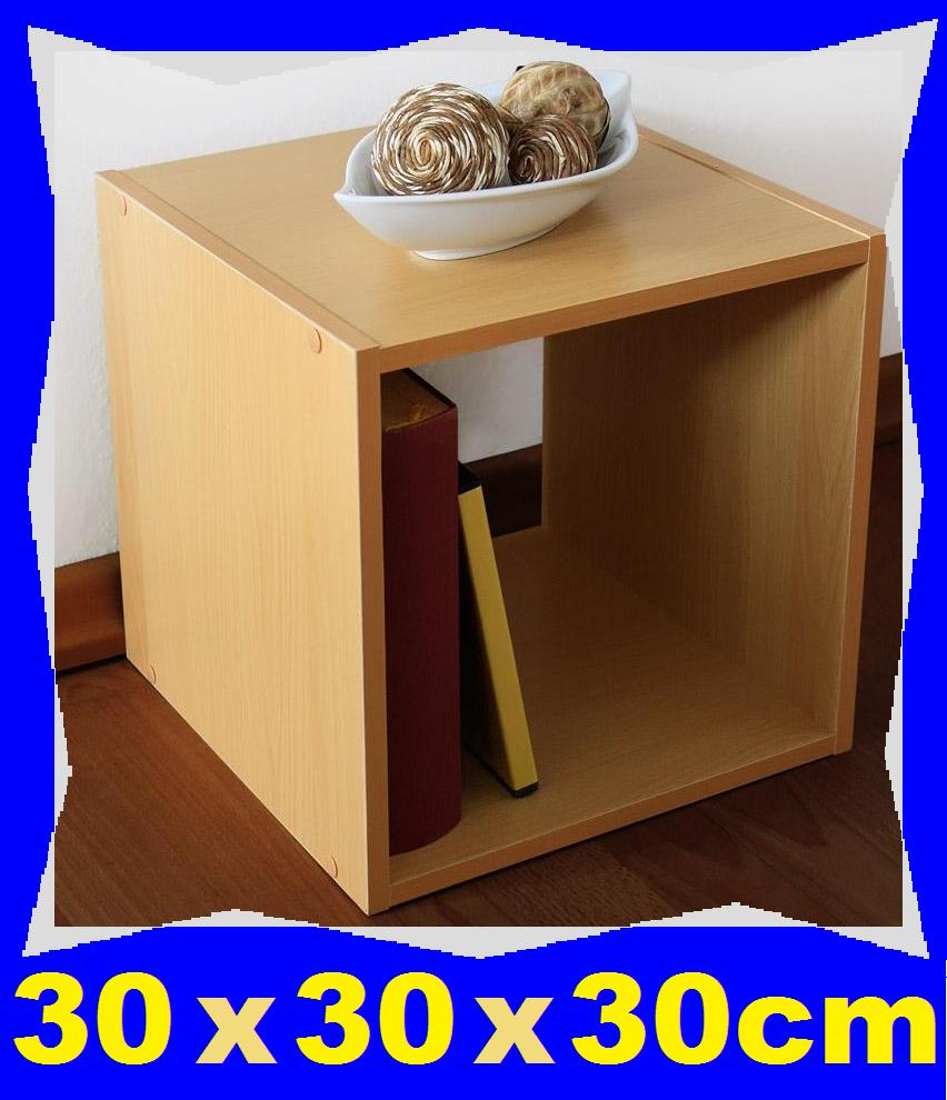 holzregal buche 30 x 30 x 30cm neu b cherregal w rfel regal holz hell deko vb ebay. Black Bedroom Furniture Sets. Home Design Ideas